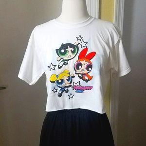 NEW Powerpuff Girls Cropped T-shirt size XS